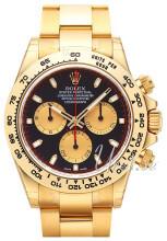 Rolex Cosmograph Daytona Czarny/18 karatowe żółte złoto