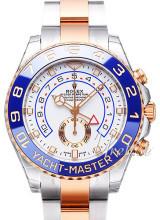 Rolex Yacht-Master II Biały/18 karatowe różowe złoto Ø44 mm