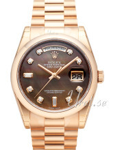 Rolex Day-Date 36 Czarny/18 karatowe różowe złoto