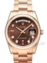 Rolex Day-Date 36 Brązowy/18 karatowe różowe złoto