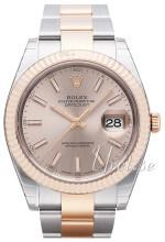 Rolex Datejust41 Srebrny/18 karatowe różowe złoto Ø41 mm