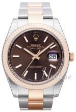 Rolex Datejust41 Brązowy/18 karatowe różowe złoto Ø41 mm