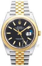 Rolex Datejust 41 Czarny/18 karatowe żółte złoto Ø41 mm