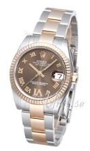 Rolex Datejust 31 Brązowy/Stal