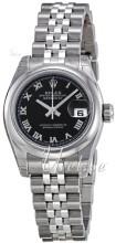 Rolex Lady-Datejust 26 Czarny/Stal