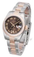 Rolex Lady-Datejust 26 Brązowy/Stal