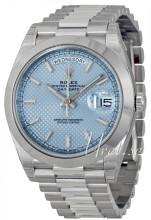 Rolex Day-Date 40 Niebieski/Platyna