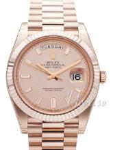 Rolex Day-Date 40 Różowy/18 karatowe różowe złoto
