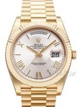 Rolex Day-Date 40 Srebrny/18 karatowe żółte złoto