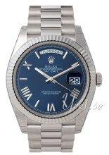 Rolex Day-Date 40 Niebieski/18 karatowe białe złoto