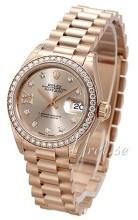 Rolex Lady-Datejust 28 Szampański/18 karatowe różowe złoto