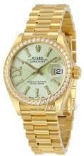 Rolex Lady-Datejust 28 Zielony/18 karatowe żółte złoto