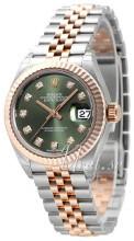 Rolex Lady-Datejust 28 Zielony/18 karatowe różowe złoto Ø28 mm