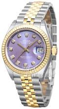 Rolex Lady-Datejust 28 Purpurowy/18 karatowe żółte złoto Ø28 mm
