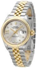 Rolex Lady-Datejust 28 Srebrny/18 karatowe żółte złoto Ø28 mm