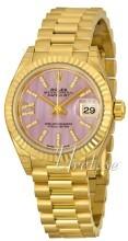 Rolex Lady-Datejust 28 Purpurowy/18 karatowe żółte złoto