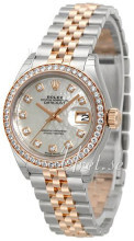 Rolex Lady-Datejust 28 Biały/18 karatowe różowe złoto Ø28 mm
