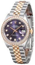 Rolex Lady-Datejust 28 Purpurowy/18 karatowe różowe złoto Ø28 mm