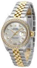 Rolex Lady-Datejust 28 Biały/18 karatowe żółte złoto Ø28 mm