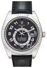 Rolex Perpetual 42 Czarny/Skóra