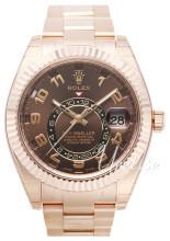 Rolex Perpetual 42 Brązowy/18 karatowe różowe złoto