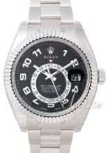 Rolex Sky-Dweller Czarny/18 karatowe białe złoto
