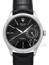 Rolex Cellini Date Czarny/Skóra Ø39 mm