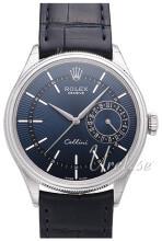 Rolex Cellini Date Niebieski/Skóra Ø39 mm