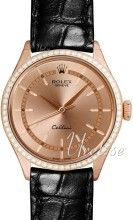 Rolex Cellini Time Szampański/Skóra