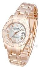 Rolex Pearlmaster 29 Biały/18 karatowe różowe złoto