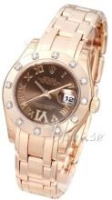 Rolex Pearlmaster 29 Brązowy/18 karatowe różowe złoto