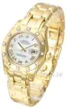 Rolex Pearlmaster 29 Biały/18 karatowe żółte złoto