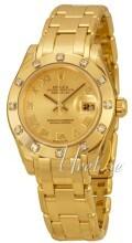 Rolex Pearlmaster 29 Szampański/18 karatowe żółte złoto