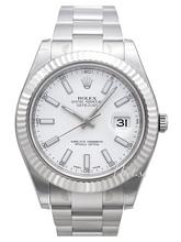 Rolex Datejust II Biały/Stal Ø41 mm