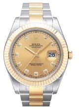 Rolex Datejust II Szampański/18 karatowe żółte złoto Ø41 mm