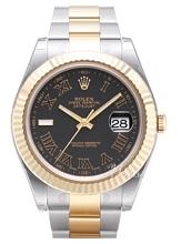 Rolex Datejust II Czarny/18 karatowe żółte złoto Ø41 mm