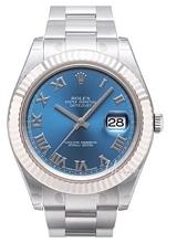 Rolex Datejust II Niebieski/Stal Ø41 mm