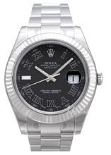 Rolex Datejust II Czarny/Stal Ø41 mm