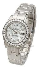 Rolex Lady Datejust Pearlmaster Biały/18 karatowe białe złoto Ø2