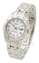 Rolex Lady Datejust Pearlmaster Biały/18 karatowe białe złoto Ø