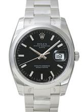 Rolex Oyster Perpetual Date Czarny/Stal Ø34 mm