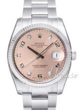 Rolex Oyster Perpetual Date Różowy/Stal Ø34 mm