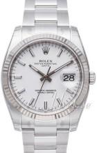 Rolex Oyster Perpetual Date Biały/Stal Ø34 mm