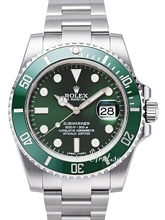 Rolex Submariner Zielony/Stal Ø40 mm