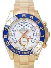 Rolex Yacht-Master Biała/18 karatowe żółte złoto Ø44 mm