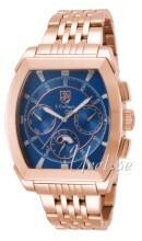 S.Coifman Sport Niebieski/Stal w kolorze różowego złota