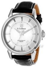 S.Coifman Dress Srebrny/Skóra Ø45 mm