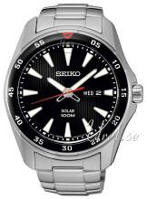 Seiko Solar Czarny/Stal