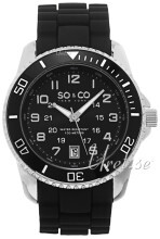 So & Co New York Yacht Timer Czarny/Guma Ø42 mm