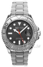 So & Co New York Yacht Timer Szary/Stal